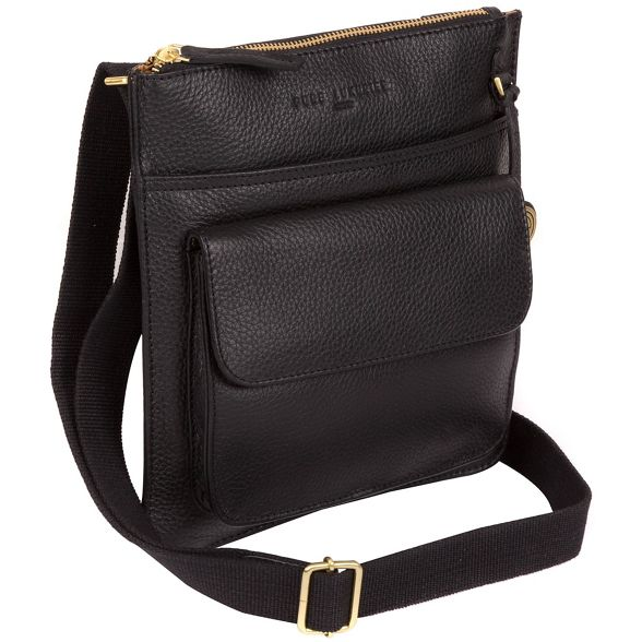 'Jarrow' leather gold Pure Black with Luxuries detailing coloured London bag twqqCIr