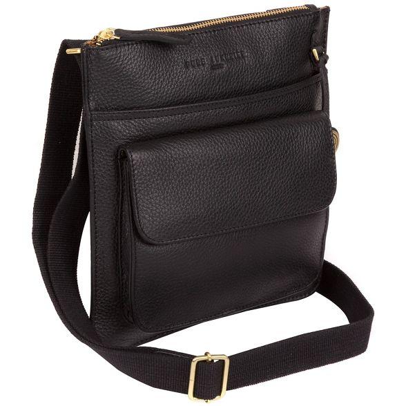 coloured 'Jarrow' with gold leather London Luxuries bag detailing Black Pure wZU8CxFn8q