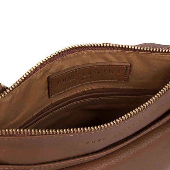 tan Luxuries Pure leather bag Dark 'Jarrow' London tZwdwqF