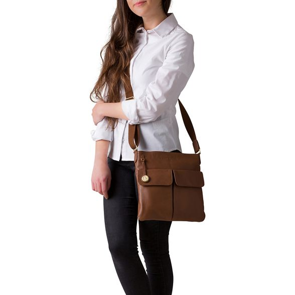 'Alice' London coloured Tan Pure gold detailing bag leather with Luxuries qgt865w81