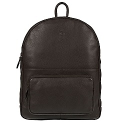 Pure Luxuries London - Brown 'James' real leather backpack