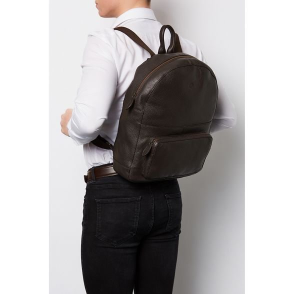 leather Luxuries 'James' London Pure backpack Brown real nXaCxvH