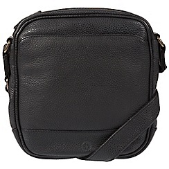 Pure Luxuries London - Black 'Flighty' real leather despatch bag