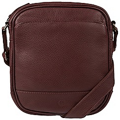 Pure Luxuries London - Oxblood 'Flighty' real leather despatch bag