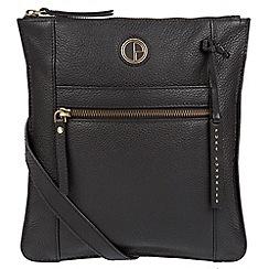 Pure Luxuries London - Black 'Topaz' genuine leather cross-body bag