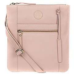 9e062e0235ee Pure Luxuries London - Blush pink  Topaz  leather cross-body bag