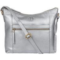 680f429a59c0 Pure Luxuries London - Metallic silver  Sequoia  leather hobo bag