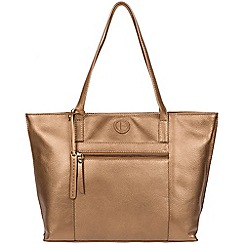 Pure Luxuries London - Bronze gold 'Skye' leather tote bag