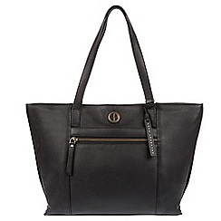 Pure Luxuries London - Black 'Skye' genuine leather tote bag