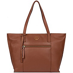 Pure Luxuries London - Dark tan 'Skye' leather shoulder bag