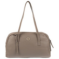 Pure Luxuries London - Taupe 'Pitunia' genuine leather shoulder bag