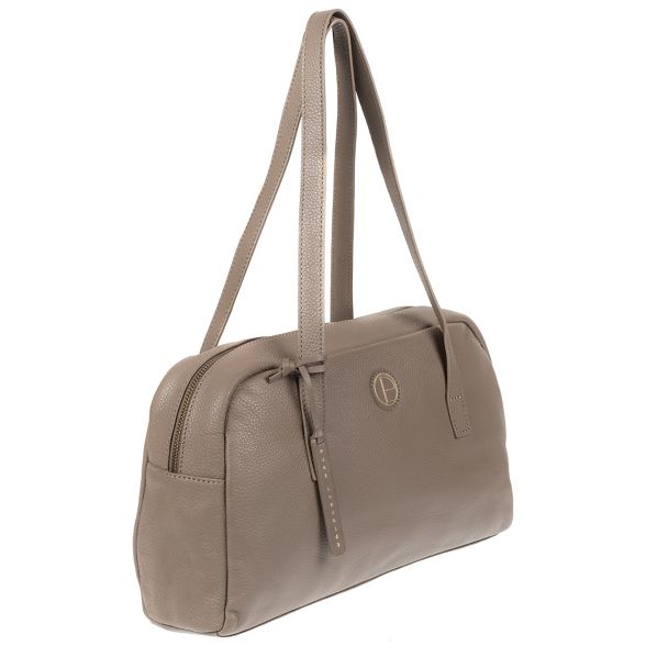 Taupe Pure 'Pitunia' shoulder Luxuries leather bag genuine London q7PxEgwAr7
