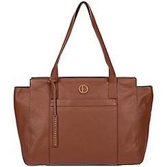Pure Luxuries London - Dark tan 'Dusk' leather shoulder bag