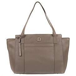 Pure Luxuries London - Taupe 'Dusk' genuine leather tote bag