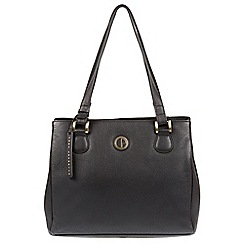 Pure Luxuries London - Black 'Milana' genuine leather tote bag