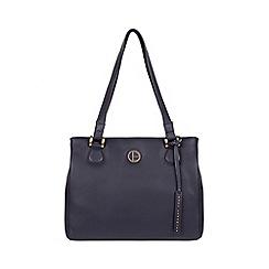 Pure Luxuries London - Navy 'Milana' leather handbag