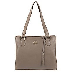 Pure Luxuries London - Taupe 'Milana' genuine leather tote bag