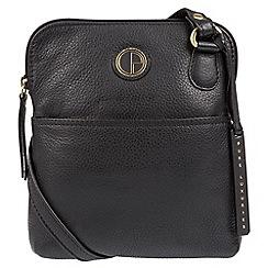 Pure Luxuries London - Black 'Orsola' fine leather cross-body bag