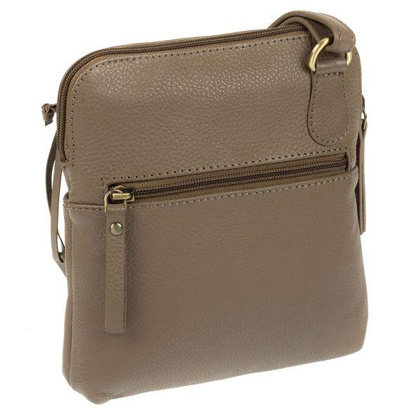 Fine 'Orsola' Taupe London Bag Luxuries Cross Leather Body Pure wqtIaa