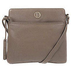 Pure Luxuries London - Taupe 'Giola' genuine leather cross-body bag