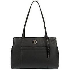 Pure Luxuries London - Black 'Mist' genuine leather tote bag