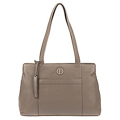 Pure Luxuries London - Taupe 'Mist' genuine leather tote bag