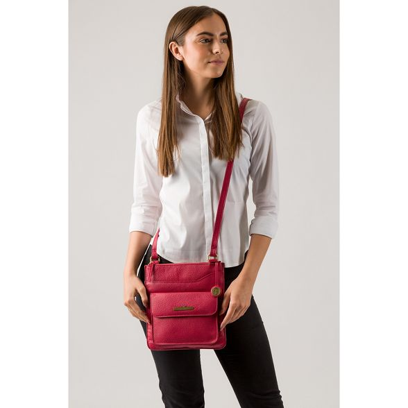 Pure body cross leather London 'Anne' Berry bag Luxuries 8wrYq8