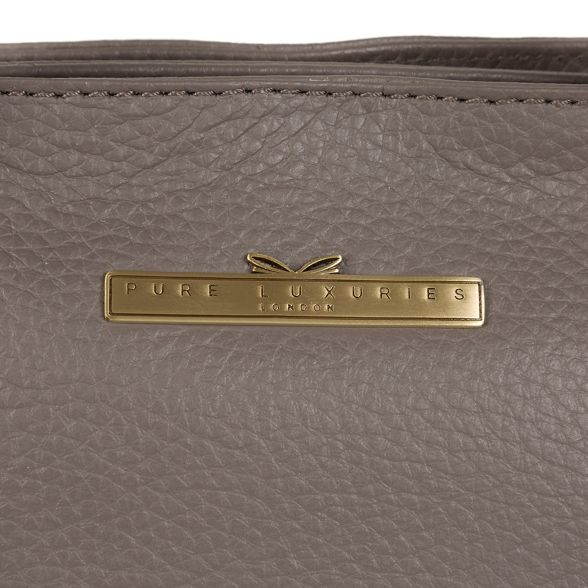 leather London Grey Pure handbag Luxuries handcrafted 'Charity' qCPx6aUwX