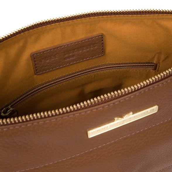 leather Dark Luxuries handcrafted bag Pure cross body London 'Caroline' tan E6qYnq