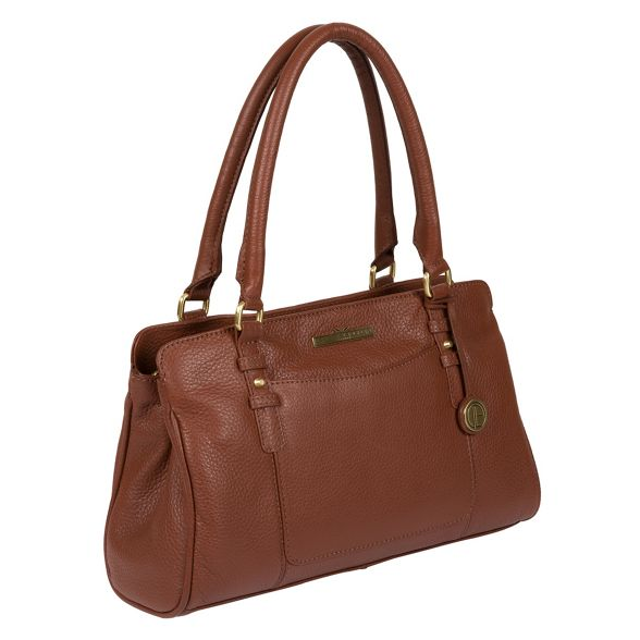 tan leather Luxuries 'Lettie' Pure handcrafted Dark London handbag aBwHtqZ