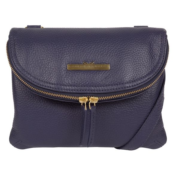 Pure handcrafted Denim Luxuries London bag cross 'Sheryl' leather body 6qr46Z
