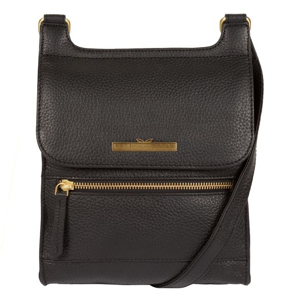 handcrafted Pure London cross leather Black bag body 'Keala' Luxuries fIAwp