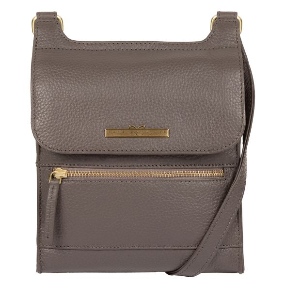 'Keala' Pure body cross Luxuries London leather Grey bag handcrafted rqtwqxPg