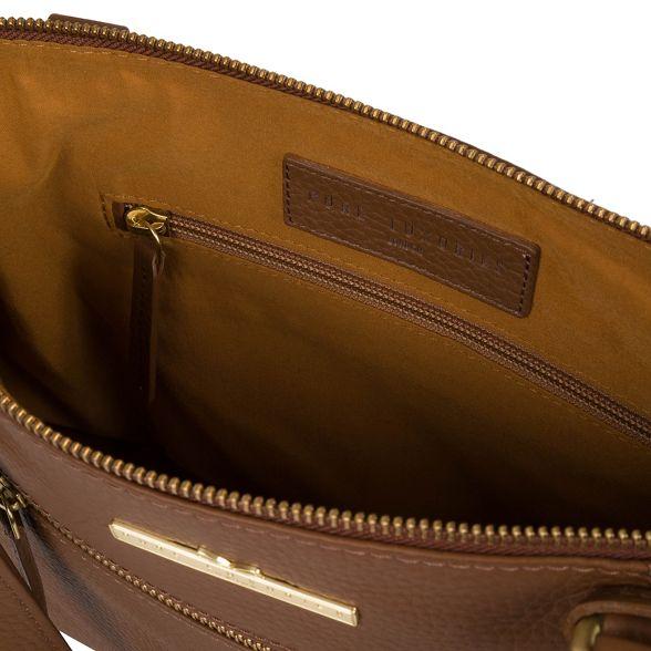handbag London 'Laurel' Dark handcrafted leather tan Luxuries Pure H8qw5O08