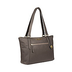 Pure Luxuries London - Grey 'Laurel' handcrafted leather handbag