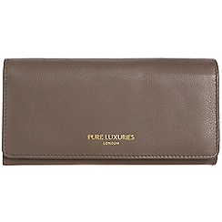 Pure Luxuries London - Cedar brown 'Lina' natural leather RFID purse
