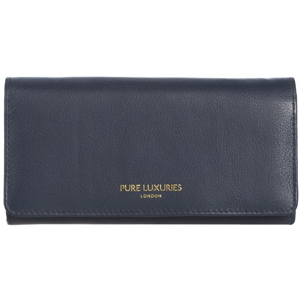 Pure RFID 'Lina' purse Luxuries London leather blue Midnight natural Sn6SrP0x