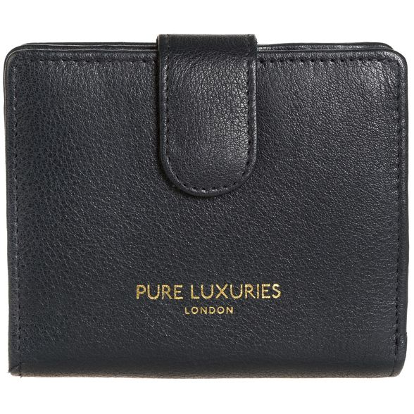 Oxford purse RFID London blue Luxuries Pure leather 'Hornsey' natural qxn641xOwH