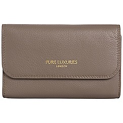 Pure Luxuries London - Cedar brown 'Windsor' natural leather RFID purse