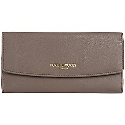 Pure Luxuries London - Cedar brown 'Perth' natural leather RFID purse