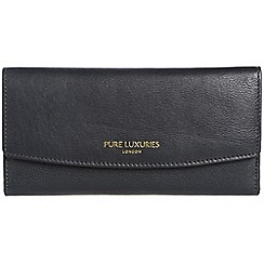 Pure Luxuries London - Oxford blue 'Perth' natural leather RFID purse