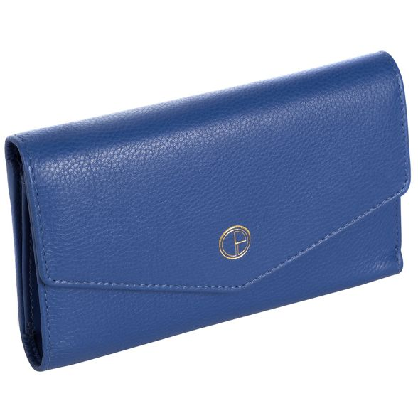 RFID 'Galway' natural Luxuries leather London Cobalt Pure blue purse I0XxgxP