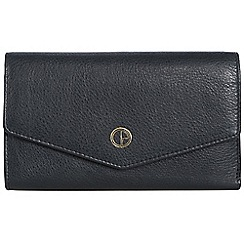 Pure Luxuries London - Oxford blue 'Galway' natural leather RFID purse