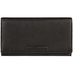 Pure Luxuries London - Black 'Bronte' natural leather RFID purse  Deluxe Collection