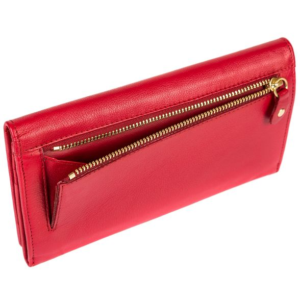 'Bronte' Deluxe natural Red Luxuries London RFID Collection leather Pure purse 81atTWR