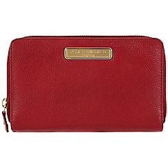 Pure Luxuries London - Red 'Woolf' leather purse - Deluxe Collection