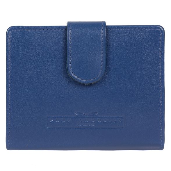 London 'Tori' leather purse blue Pure Royal Luxuries RFID handcrafted WxwWvS45g