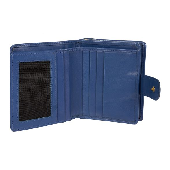 Royal leather London Luxuries 'Tori' handcrafted Pure purse blue RFID YfaEpZq