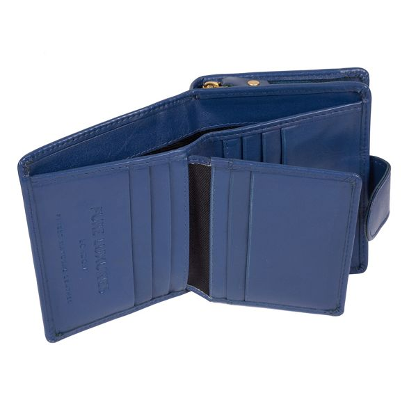 Pure 'Tori' London handcrafted Royal leather RFID purse Luxuries blue rBRqr1