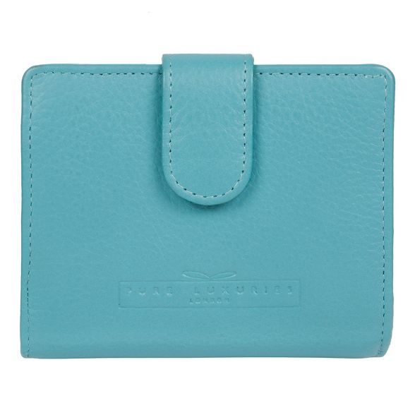 RFID leather London Pure Turquoise 'Tori' Luxuries purse handcrafted nxq661gzwf